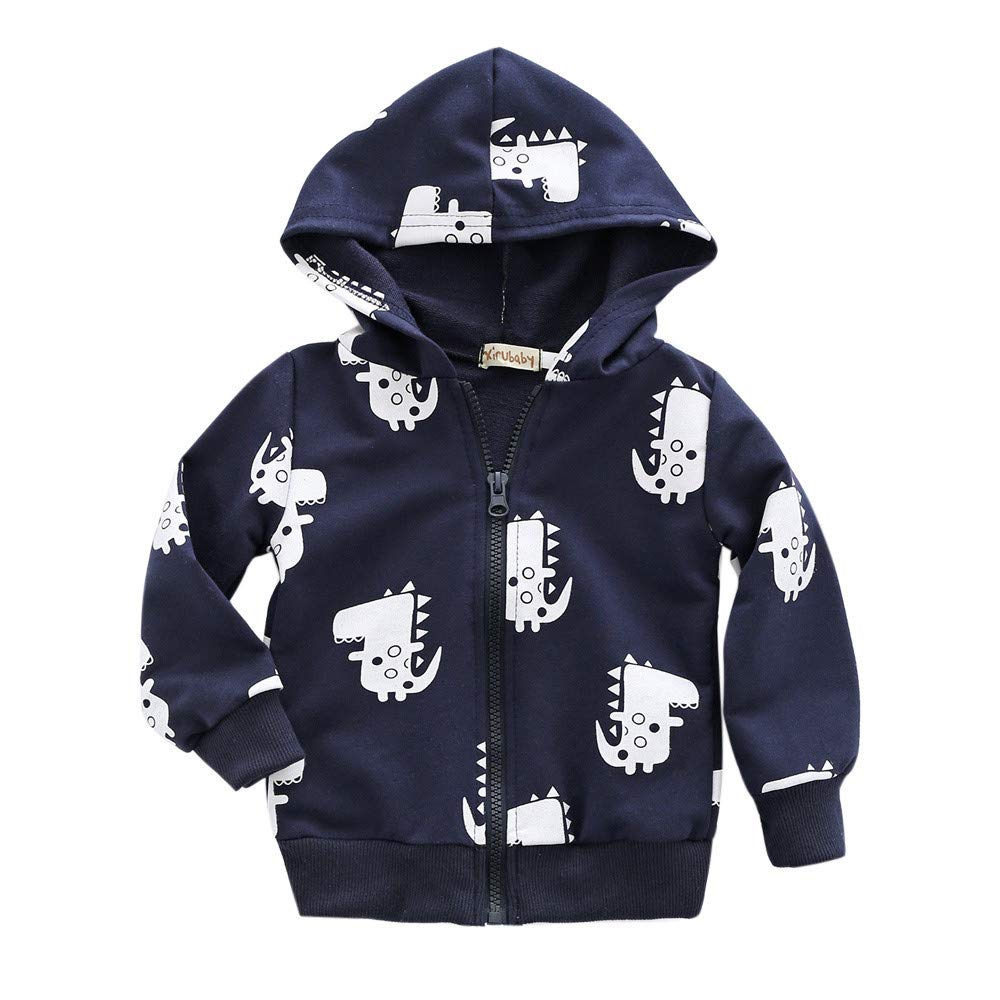 New!!! Toddler Baby Boys Girls Clothing Set Vovotrade Newborn Cute Cartoon Dinosaur Print Coat Infant Kids Long Sleeve Zipper Hooded Sweatshirt Soft Cardigan Jacket Tunic Coat
