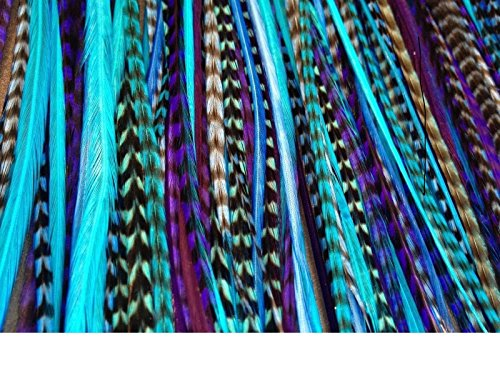 UPC 731157996976, Feather Hair Extensions, 100% Real Rooster Feathers, 20 Long Thin Loose Individual Feathers, By Feather Lily