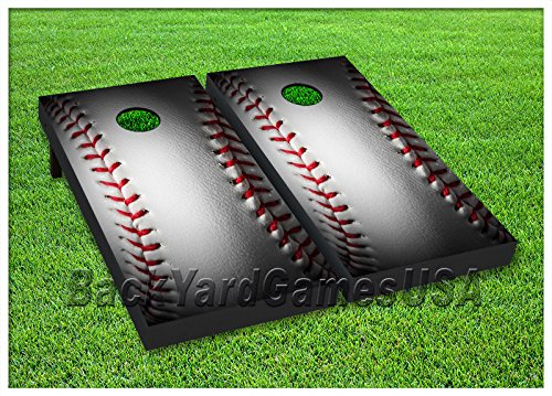- VINYL WRAPS Cornhole Boards DECALS Baseball Fans Bag Toss Game Stickers 81