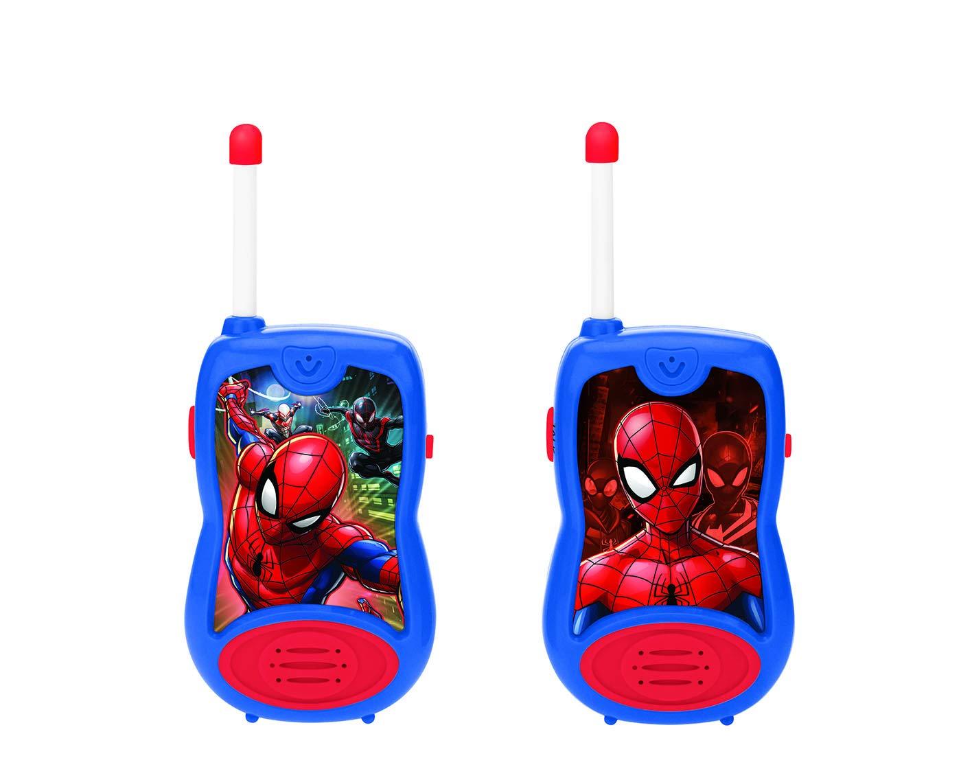 LEXIBOOK TW12SP Marvel Spider-man Spiderman Walkie-Talkies, Blue/Red