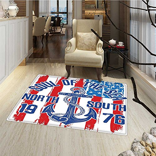 Anchor Door Mats AreaRug Vintage Design Anchor with Rope o