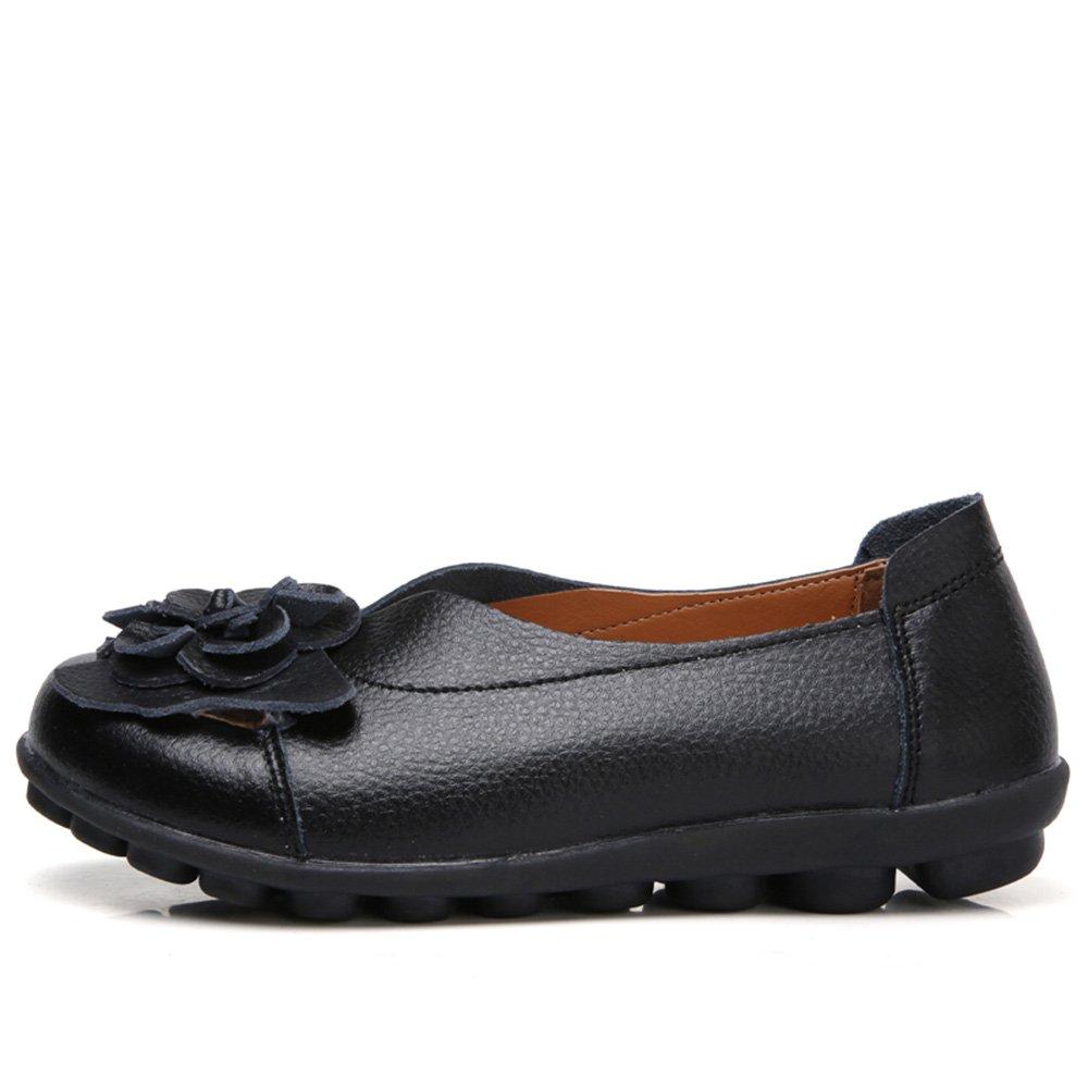 11 Couleurs Gaatpot Femmes Fleurs Cuir Mocassins Casual Respirant Bateau Chaussures Plates Loafers Chaussures de Conduite Sandales