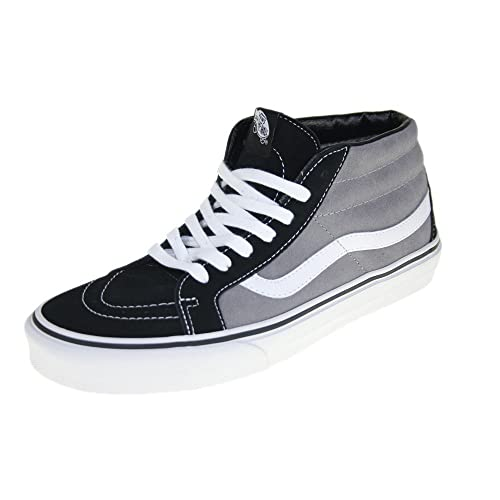 b8f152e5d4c65d Vans SK8 Mid Reissue Shoes UK 11 Suede Black Frost Grey  Amazon.ca  Shoes    Handbags