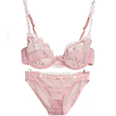 f42b6cb9b2f4d suzanne vega Sexy Vintage Bra   Brief Sets Lace Bras Knickers Transparent  Underwear Suit (32B