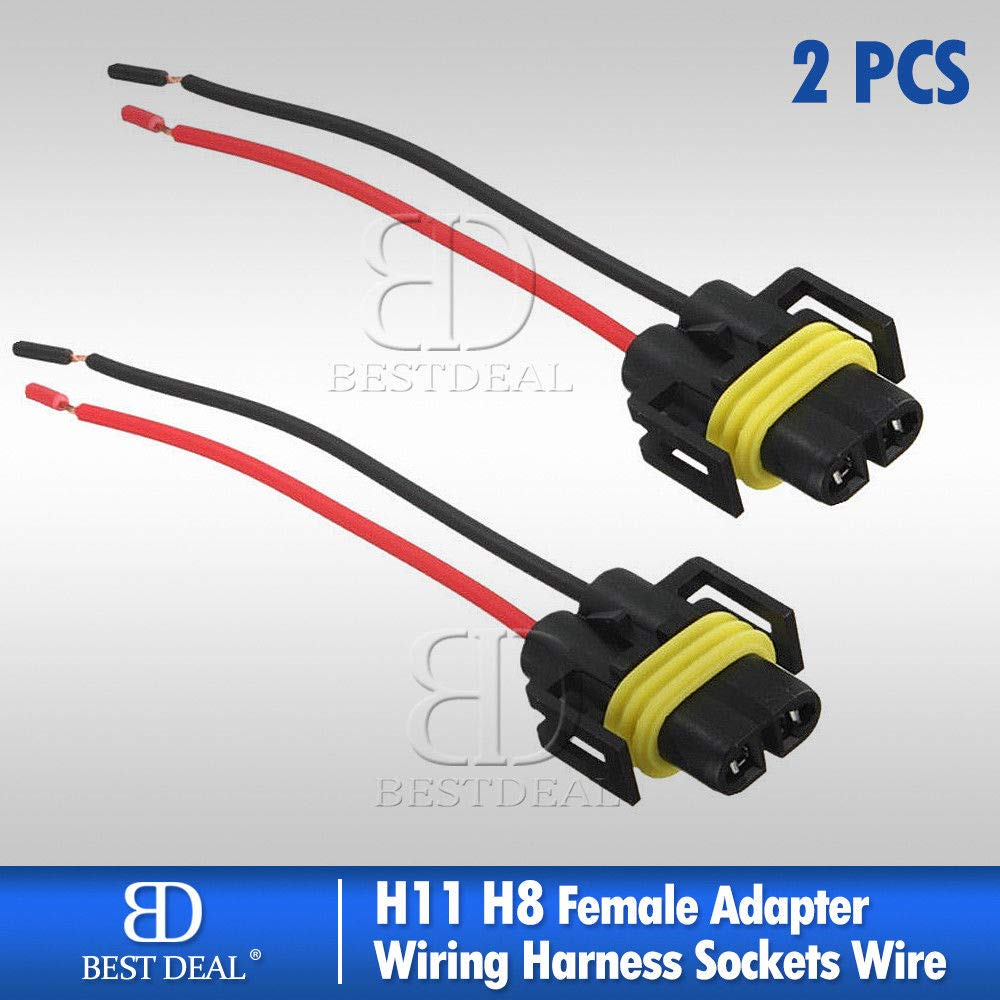 Amazon.com : Mia_Bes Bestdeal H8 H11 Female Adapter Wiring Harness  Extension Wire Socket Connector : Garden & Outdoor
