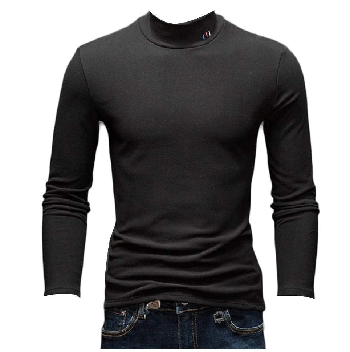 Winwinus Mens Skinny Classic Rib Blouse Tunic Tops Casual Thickened Sweater