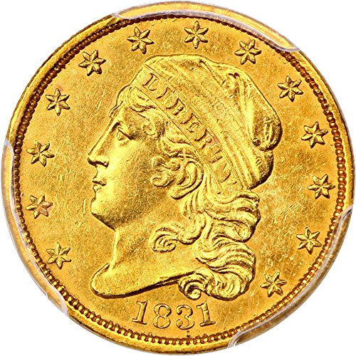 1831 P $2.50 Early Gold (1796-1839) Two and a half Dollar AU55 PCGS