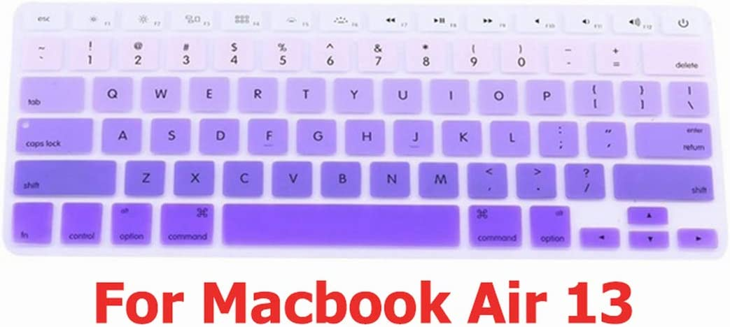 Keyboard Cover for MacBook Air 13 Pro 15 Accessories English Letters Gradient Keyboard Protector Stickers,Klavye Sticker1