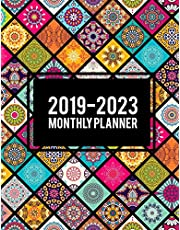 """2019-2023 Monthly Planner: Colorful Mandala Book, 8.5"""" x 11"""" Five Year 2019-2023 Calendar Planner, Monthly Calendar Schedule Organizer (60 Months Calendar Planner)"""