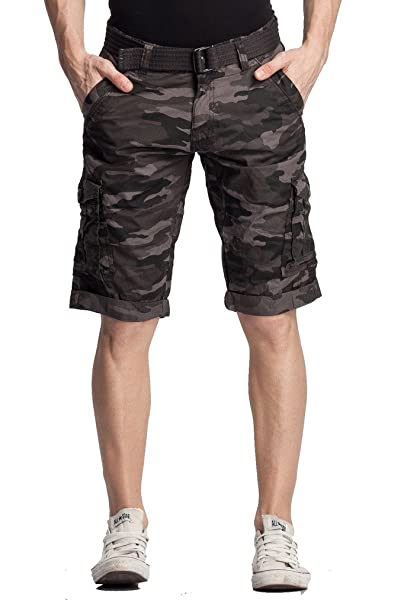 BEEVEE Men's Cotton Cargo 3/4 Shorts Men's Shorts at amazon
