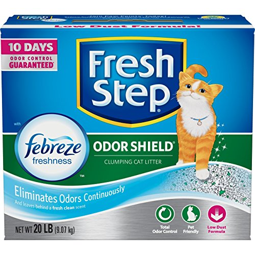 Fresh Step Odor Shield Scented Litter with the Power of Febreze, Clumping Cat Litter, 20 Pounds - Extreme Odor Control