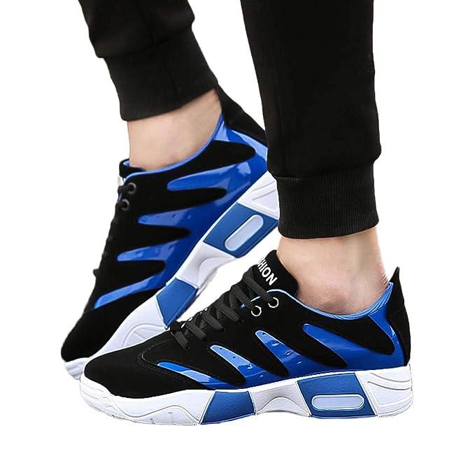 JiaMeng Zapatillas Deporte Hombre Zapatos para Correr Athletic Cordones Air Cushion Malla Zapatillas Deportivas Antideslizantes Zapatillas de Baloncesto de ...