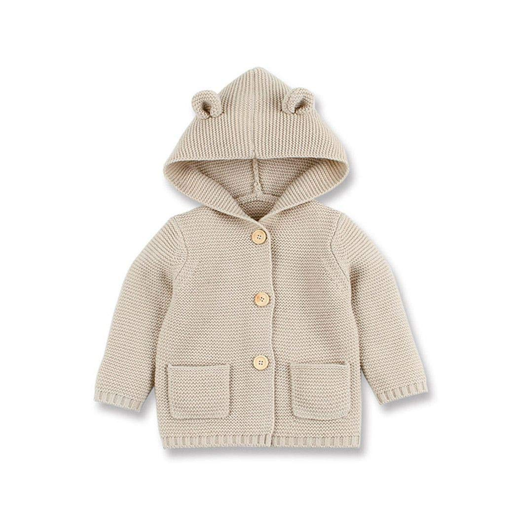 Baby Sweater Knitted Girls Knitwear Jackets Autumn Long Sleeves Toddler Coats 6M by Santans