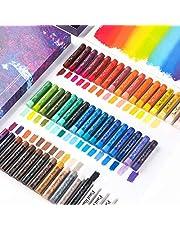 Paul Rubens Oliepastelset, 48 kleuren Zachte pastels Niet-giftige pastelkleuren voor kunstenaars, studenten en kinderen, ideaal voor schetsen, decoratief schilderen, foto's maken zoals olieverfschilderijen.