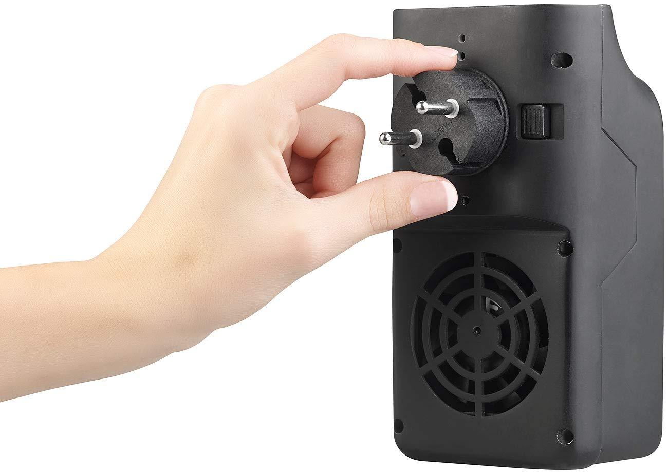 Sichler Haushaltsger/äte Steckdosenheizer: Mini-Steckdosen-Heizl/üfter mit Timer /& Fernbedienung Mini Heizer 2-stufig 500 W