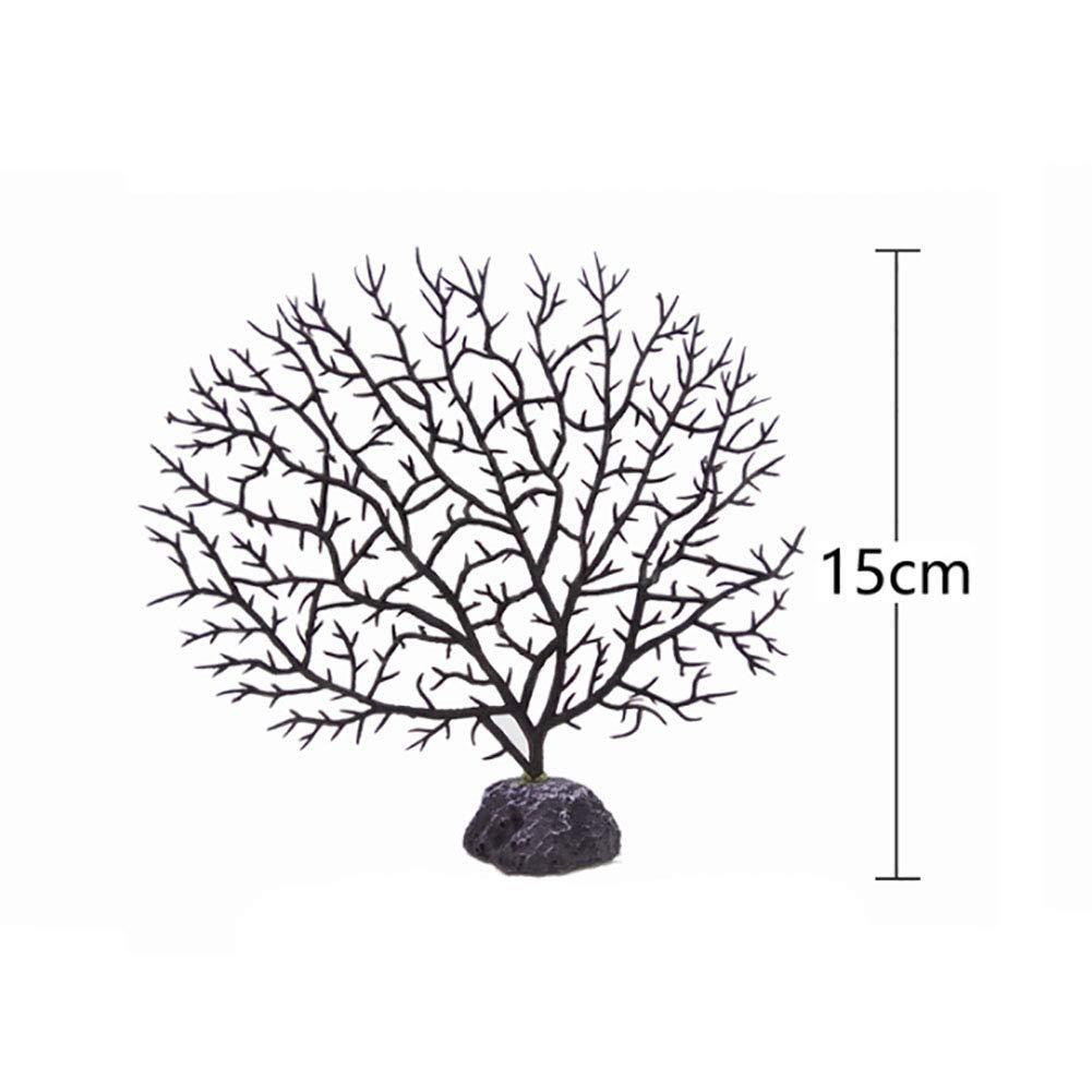 Ogquaton /Decoraci/ón de Acuario de pl/ástico Adorno de Acuario de Resina Coral Suave Decoraci/ón de Plantas Artificiales