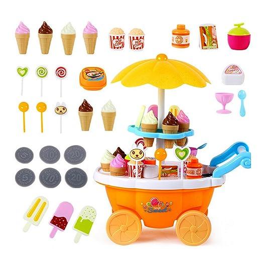 szwanju Juguete del carro de la crema del helado, tienda del carro de la crema del helado del caramelo: Amazon.es: Juguetes y juegos