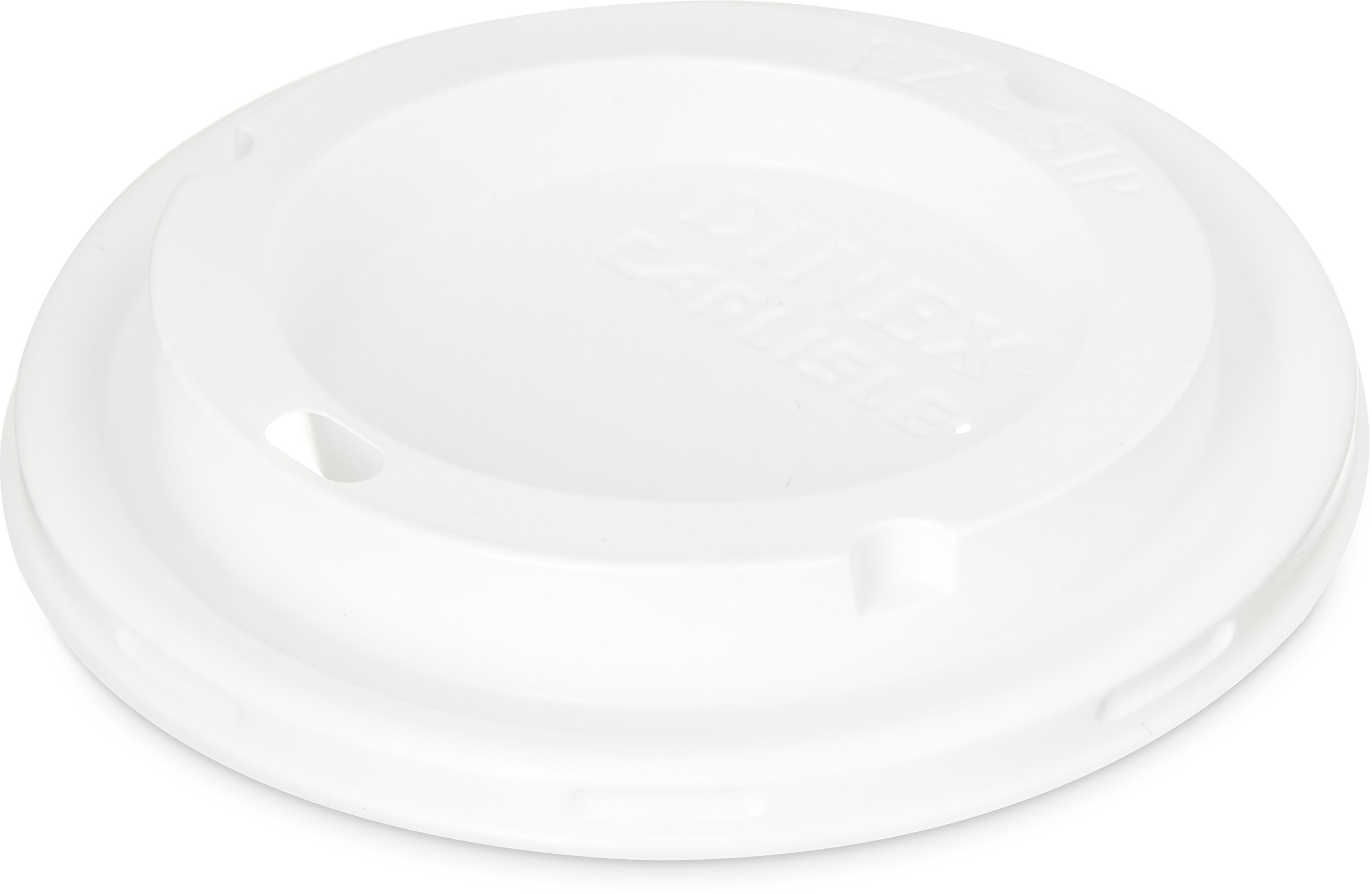 Dinex DX50008775 Polycarbonate Disposable EZ-Sip Lid, 3-1/2'' Diameter, For Fenwick 8oz Insulated Mug and 5oz Insulated Bowl (Case of 1000)
