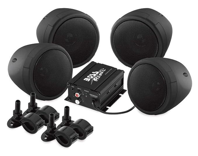 amazon com boss audio mcbk470b weatherproof speaker amplifier sound rh amazon com