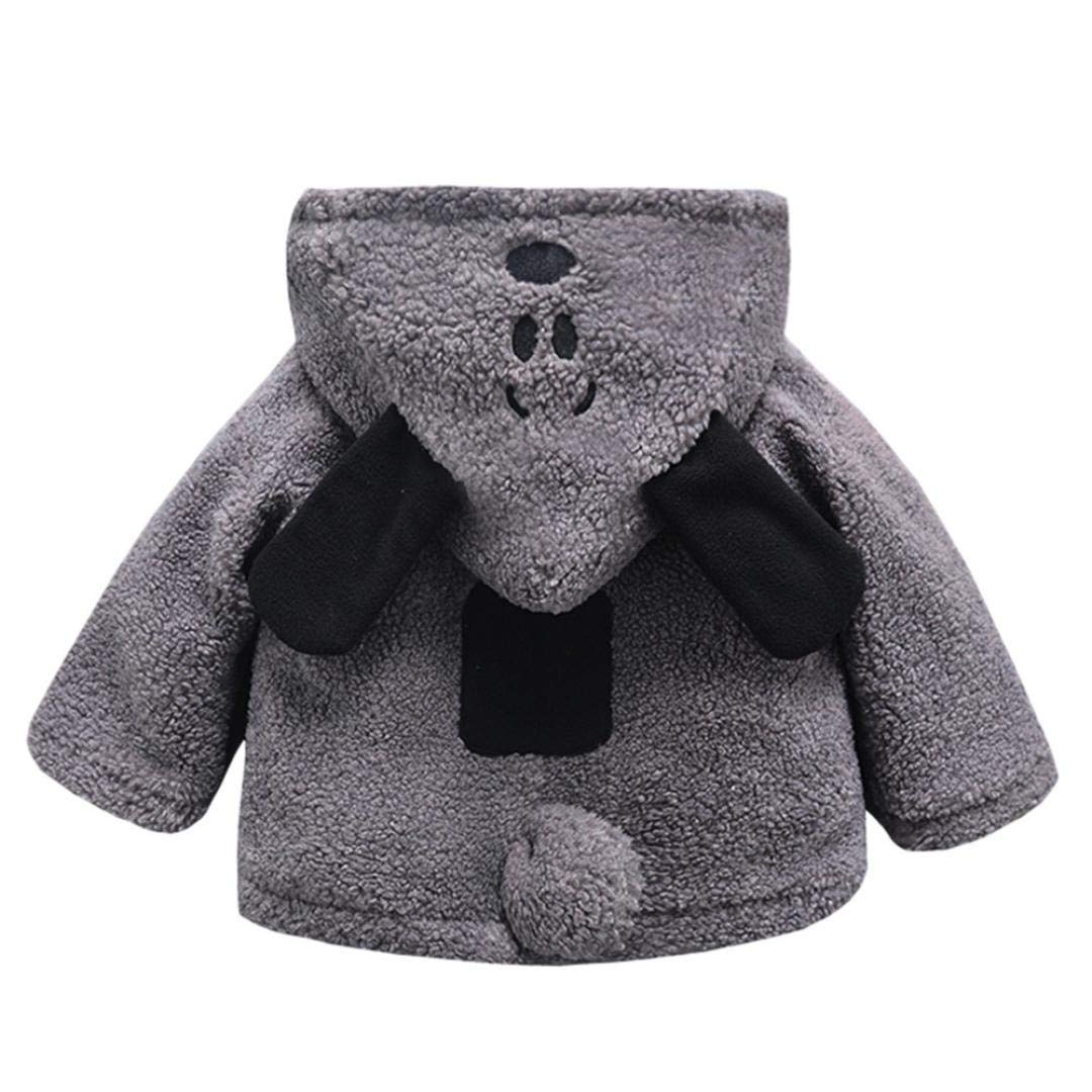 GBSELL Toddler Baby Kids Girls Boy Cartoon Thick Warm Jacket Outfits Clothes Fall Winter (Gray, 6-12 Months) by GBSELL Baby (Image #2)