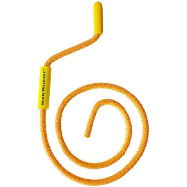 FlexiSnake Drain Millipede - Drain Clog Remover - Dependable, Thin, Flexible, Durable and Easy to Use – Safe for Most Drains and Grates - Made in USA, 18 Inch - Yellow