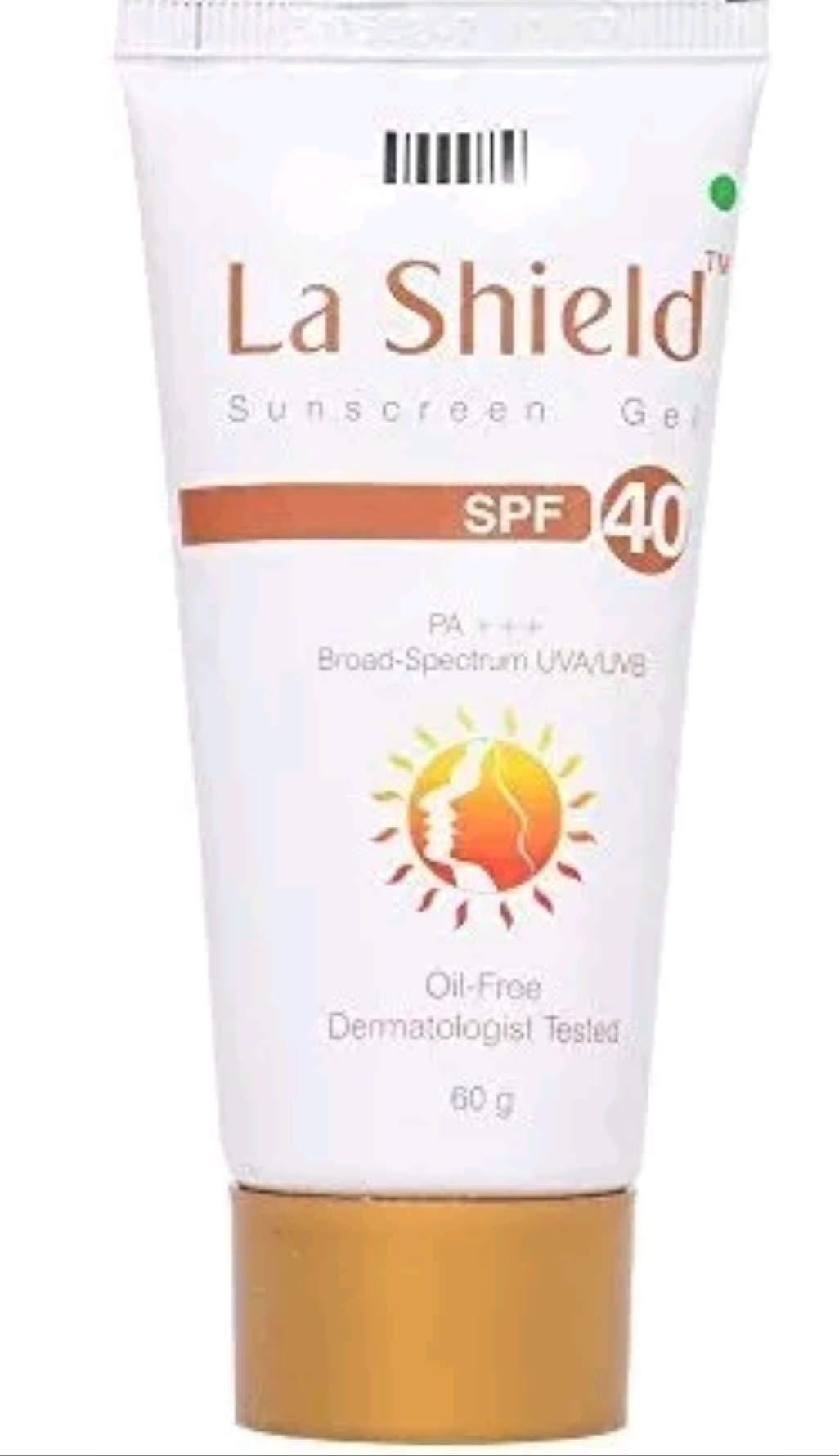 Glenmark La Shield Sunscreen Gel SPF 40, PA+++,Broad-Spectrum UVA/UVB Oil Free and Dermatologist Tested, 60gms product image