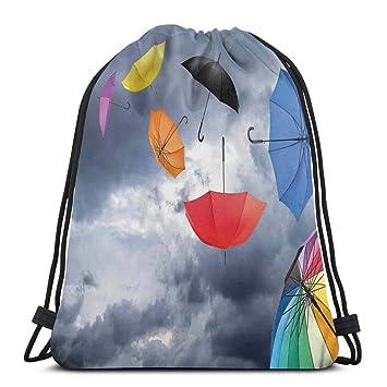 Juzijiang Drawstring Shoulder Backpack Travel Daypack Gym ...