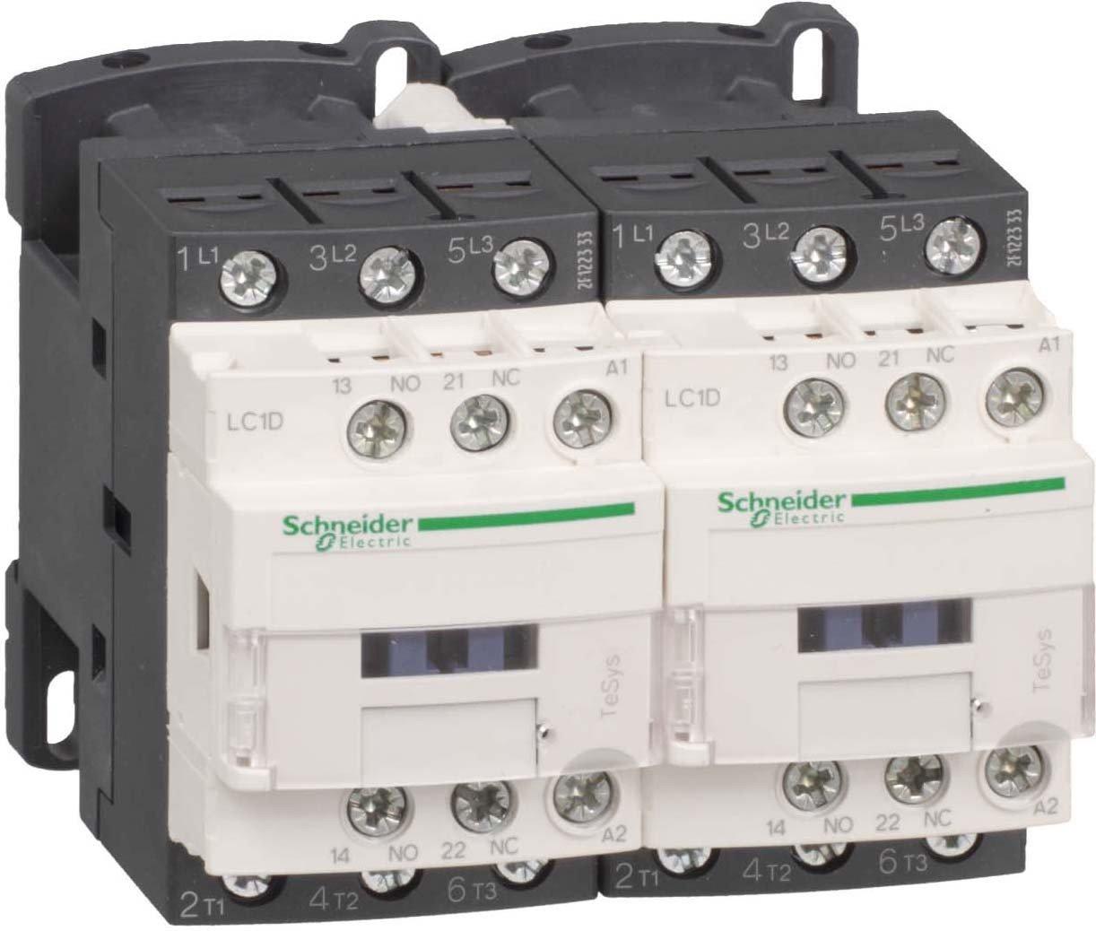 Schneider Electric LC2D25BL TeSys D Contactor Inversor, 25A 24V, Bajo Consumo Antiparasitado