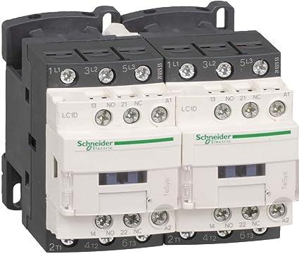 3p+1S+1/Ö Spule DC 25A 11kW//400V//AC3 24V Schneider LC2D25BL Wendesch/ützkombination