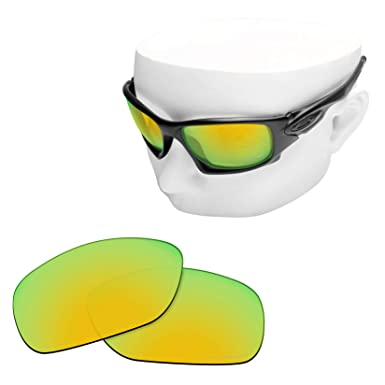389d6c016ed OOWLIT Replacement Lenses Compatible with Oakley Ten X Sunglass 24K  Combine8 Polarized