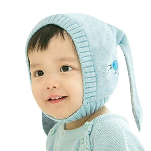 7cf40c01429 Amazon.com  Molyveva Baby Children Hats Boys Girls Beanie Cotton Rabbit Ear  Knitted Cap  Clothing