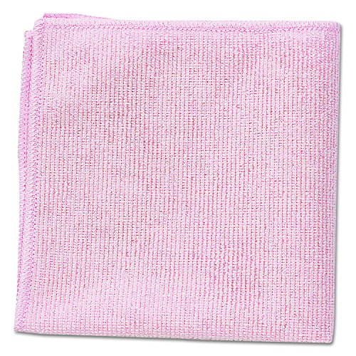 Rubbermaid Commercial 1820581 Microfiber Cleaning Cloths, 16 x 16, Pink (Pack of 24) by Rubbermaid Commercial Products (Image #1)