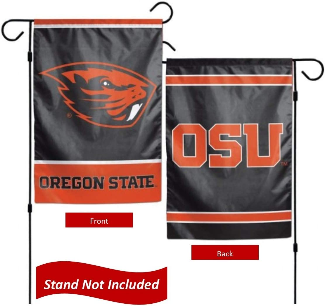 """Oregon State Beavers 12.5"""" x 18"""" Double Sided Yard and Garden College Banner Flag is Printed in The USA"""