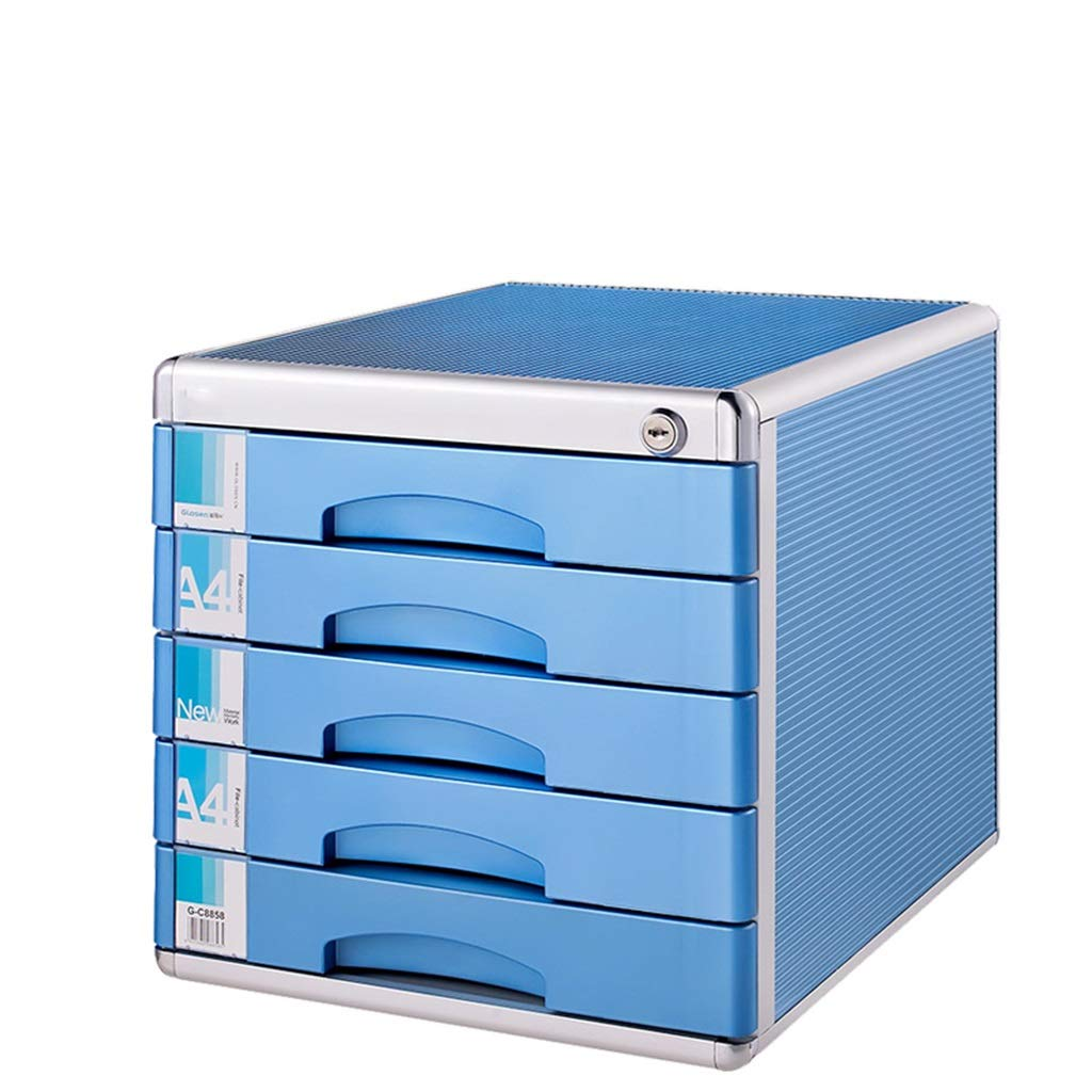 File cabinets Office Desk with Lock Aluminum Alloy Drawer Type Data Office Contract Storage Cabinet Plastic Small FANJIANI by File cabinets