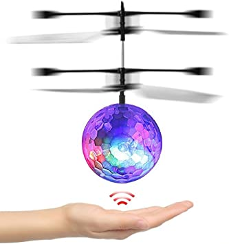 Juguete De RC, Mini bola de vuelo RC Volare pelota con luz LED ...