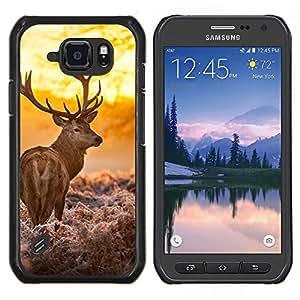 Stuss Case / Funda Carcasa protectora - Majestic Sol ciervos - Samsung Galaxy S6Active Active G890A