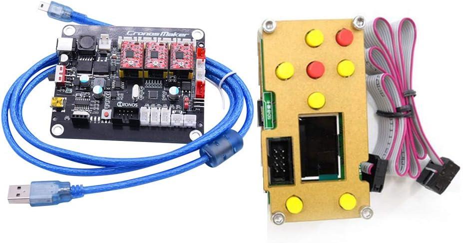 f/ür GRBL,1610,2418,3018 Maschine offline Controller Board CNC 3D Printer Steuerung Kit 3-Achsen-GRBL-Treiber-Controller-Board DIY-Graveur-Control-Board GRBL Offline-Steuerungsplatine