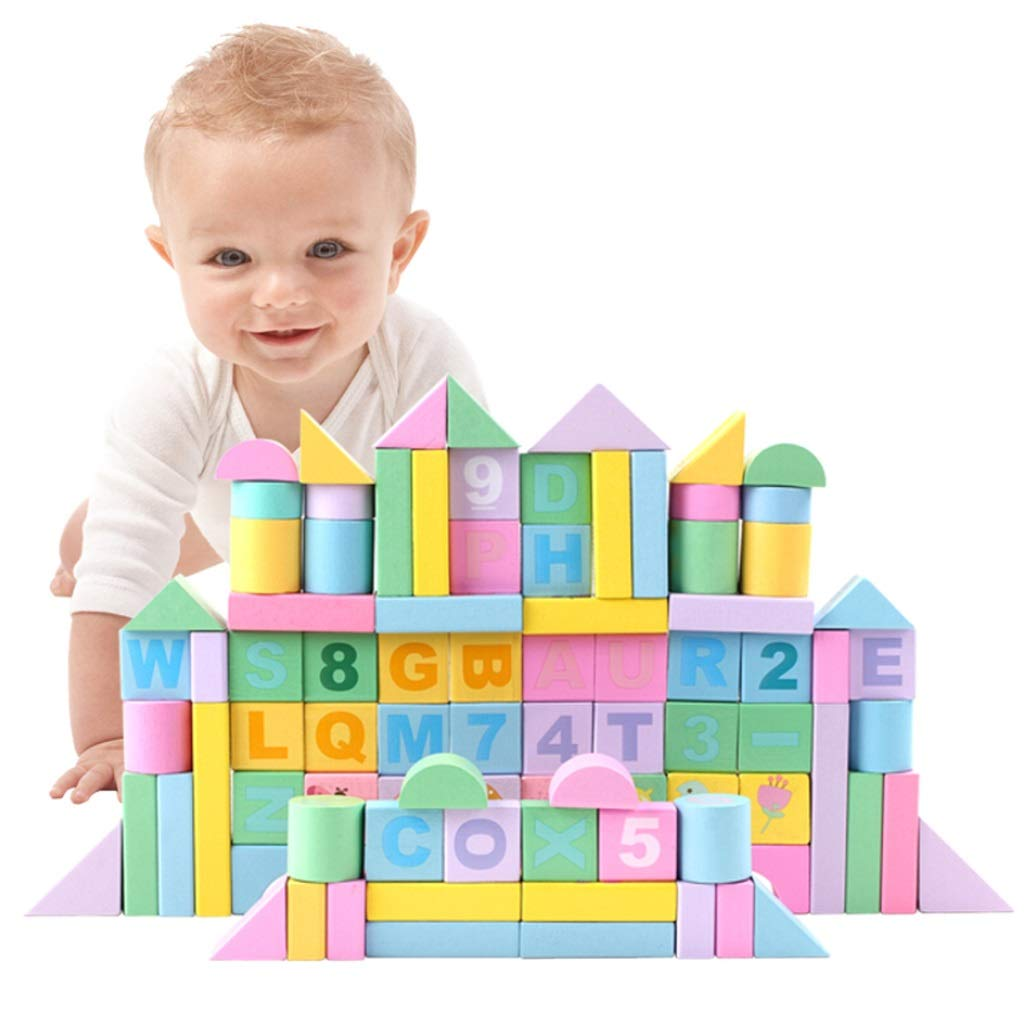 LS Building Blocks - Children's Building Blocks Boy Girl 1-6 Years Old Early Education Toy Birthday Present (Size : E)