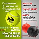 LOM Fight Ball Reflex, Boxing Ball, Softer Than
