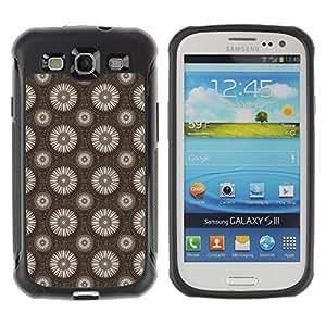 Qstar Arte & diseño Anti-Slip Shockproof TPU Fundas Cover Cubre Case para SAMSUNG Galaxy S3 III / i9300 / i747 (white flower)
