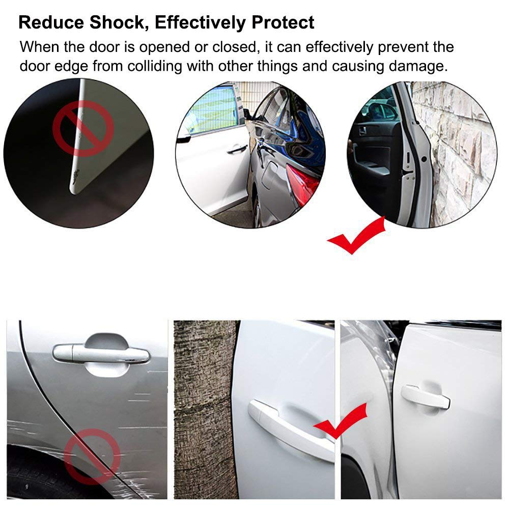 White SEAMETAL Car Door Edge Guards Protector 32ft