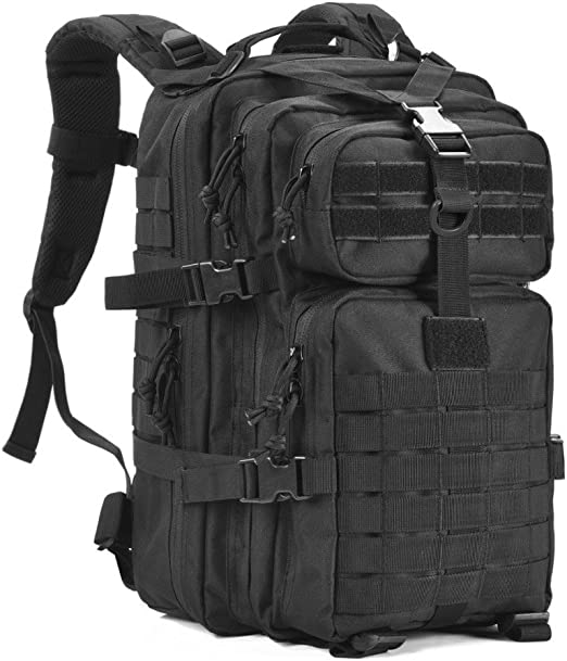 Military Tactical Backpack 45L Army 3 Day Assault Pack Molle Bag Heavy Duty Waterproof Backpack with Comfortable Air Cushion Shoulder Straps for Army,Trekking,Hunting,Motorcycle and Daily Use
