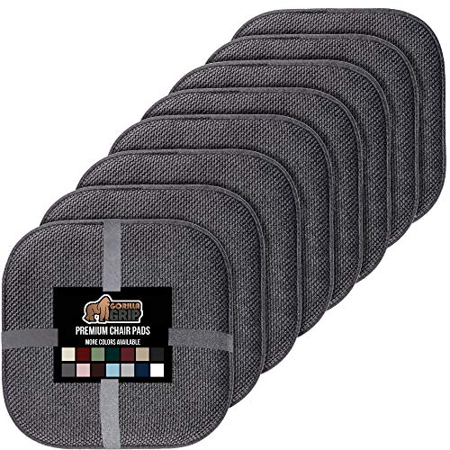 Gorilla Grip Memory Foam Chair Cushions, Slip Resistant, Thick and Comfortable Seat Cushion Pads, Premium Large Size…