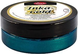Viva Decor Inka Gold Paint, Acrylic, Turquoise/Petrol, Medium