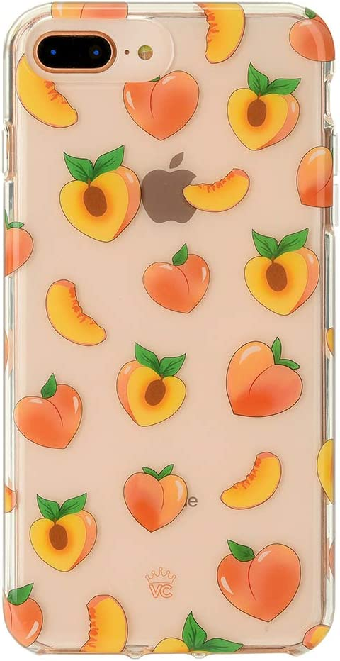 Velvet Caviar Compatible with iPhone 7 Plus Case & iPhone 8 Plus Case Peach for Women & Girls - Cute Clear Protective Phone Cases (Peachy Orange)