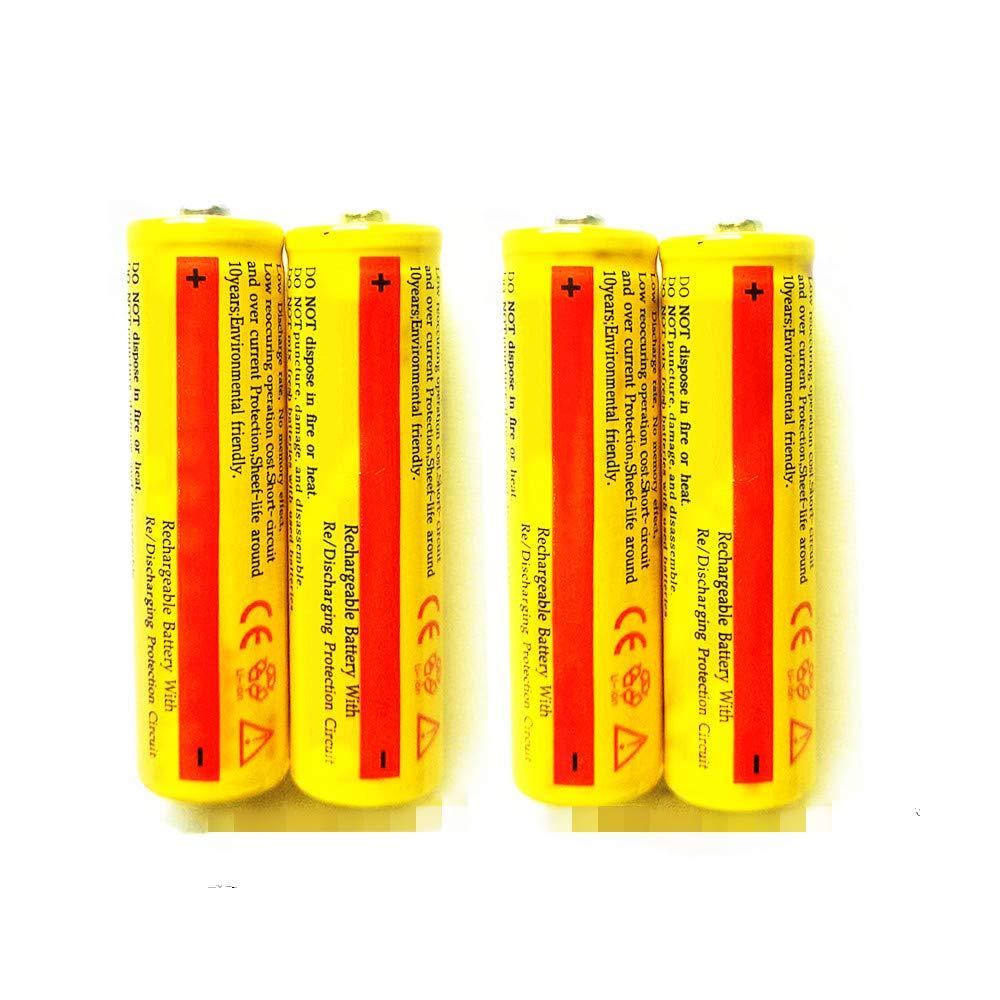 4PCS Batteries Button Top for Led Flashlight Hqdz 4PCS 3.7V 5000AMH Li-ion Rechargeable Batteries Toys Household Appliance