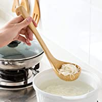 Natural Spoon Classic Wooden Soup-ladle International Bamboo Kitchen dinnerware Tools (1 PCS), 11.8 x 4.5 x 3.5 inches