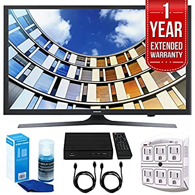 Samsung UN49M5300- 49-Inch Full HD Smart LED TV with 1 Year Extended Warranty + Accessories Bundle