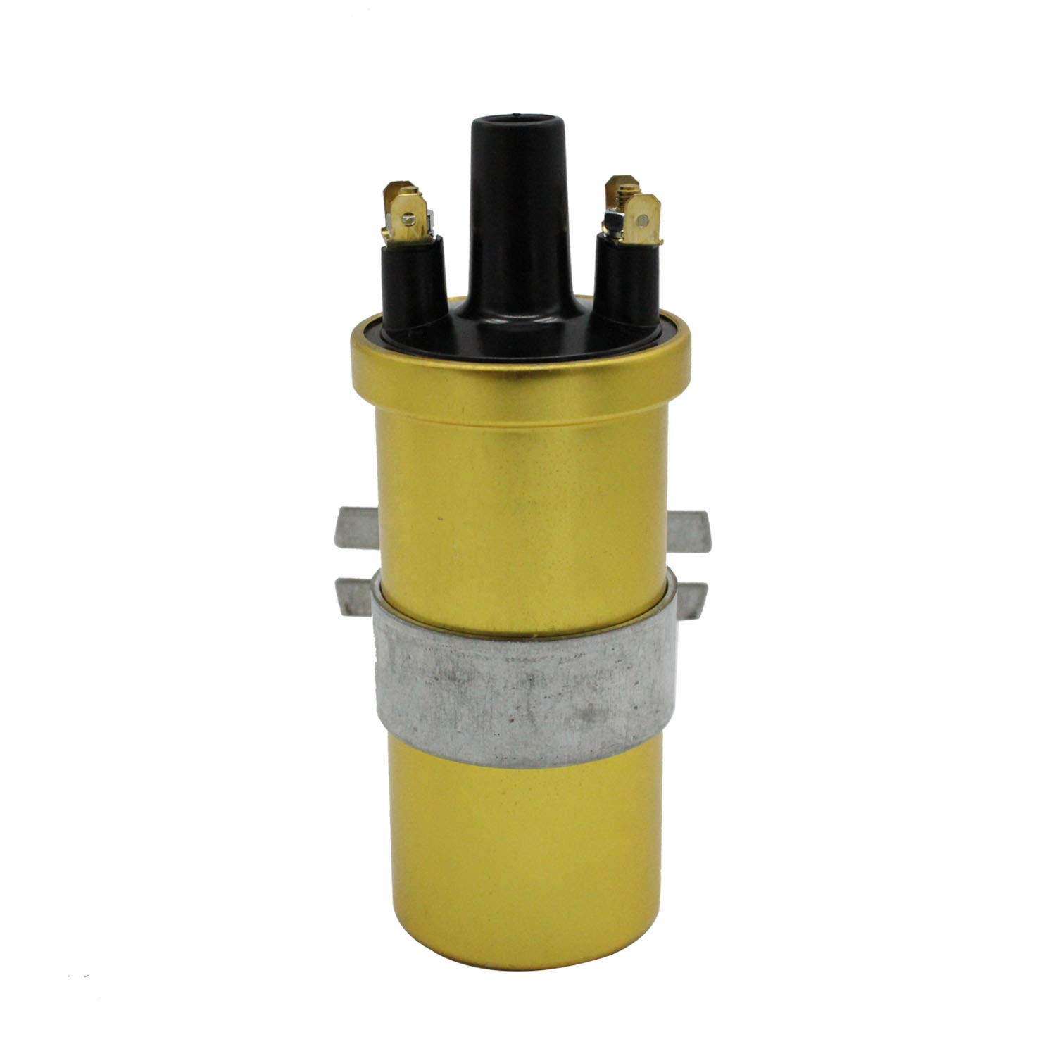 TAKPART 12V Gold Sports Ignition Coil for Lucas