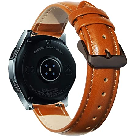 OTOPO Compatible 46mm Galaxy Watch Band/Gear S3 Frontier Bands / S3 Classic Band, 22mm Quick Release Soft Leather Replacement Band Wrist Strap ...